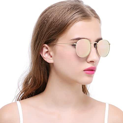 Joopin-Men Retro Brand Polarized Sunglasses Women Vintage Round Sunglasses