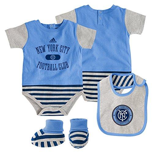 MLS NY City Infant Creeper,Bib&Bootie Set