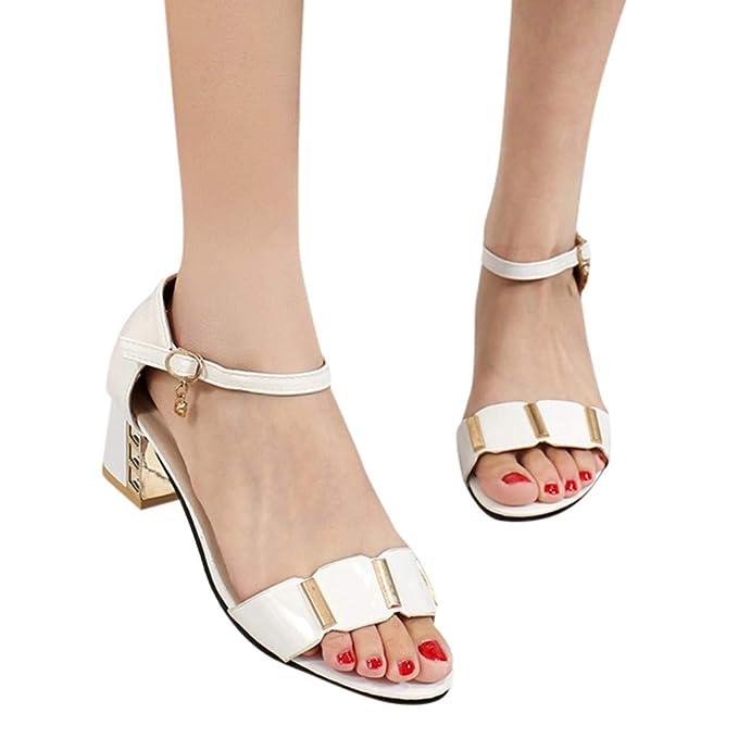 ABsolute Sandalias Sandalias de Vestir Mujer Verano 2019 Correa de la Hebilla de Mujeres Zapatos de