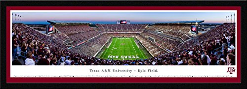 Texas A&M Football - End Zone - Blakeway Panoramas College Sports Posters with Select Frame