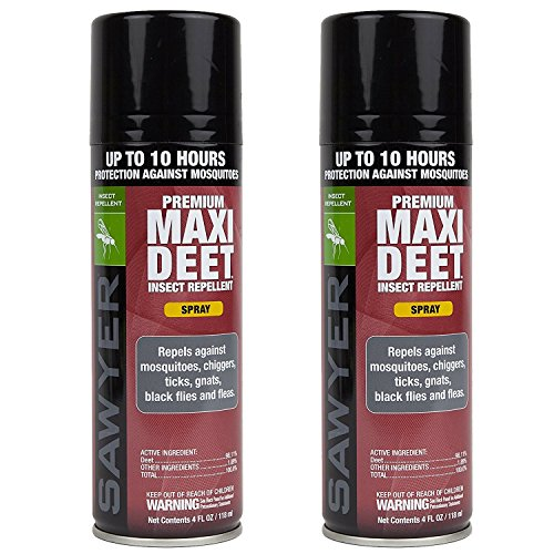 Sawyer Products SP7742 Premium Maxi-DEET Insect Repellent, Continuous Spray, Twin Pack, 4-Ounce