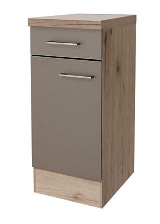 smartmoebel Küchen Unterschrank 30 cm breit Quarz-Cubanit San Remo ...