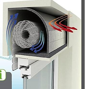 optitron aislamiento del Buzón de persiana (25 mm, 4 unidades. Buildershop + 1 rollo cinta aislante: Amazon.es: Bricolaje y herramientas