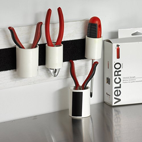 075967901998 - Velcro Industrial Strength Sticky-Back Hook & Loop Fastener 2 PACK TOTAL OF 4 Strips, 4 x 2, Black carousel main 2