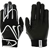 Nike Young Men's Swingman Batting Glove, Black, Large