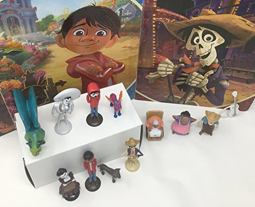 Disney Pixar Coco Movie Day of the Death Deluxe Mini Cake Toppers Cupcake Decorations Set with 12 Figures by Disney Coco (Image #3)