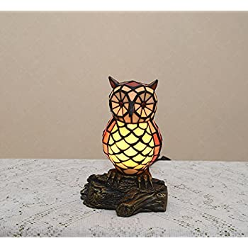 105h stained glass tiffany style owl night light table desk lamp 105h stained glass tiffany style owl night light table desk lamp mozeypictures Choice Image