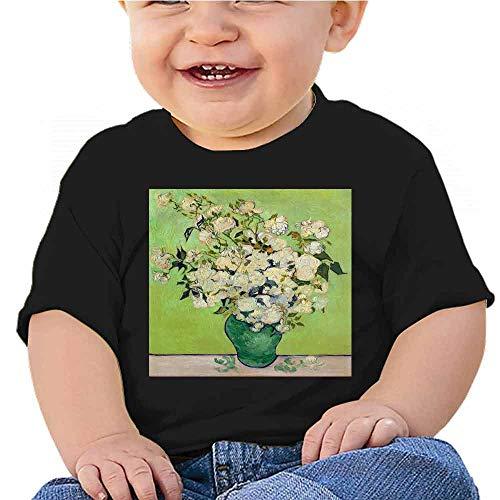 Short Sleeve T-Shirt Kids Art, Flower, vase, Beautiful Flower (21) Outfit Set Blue