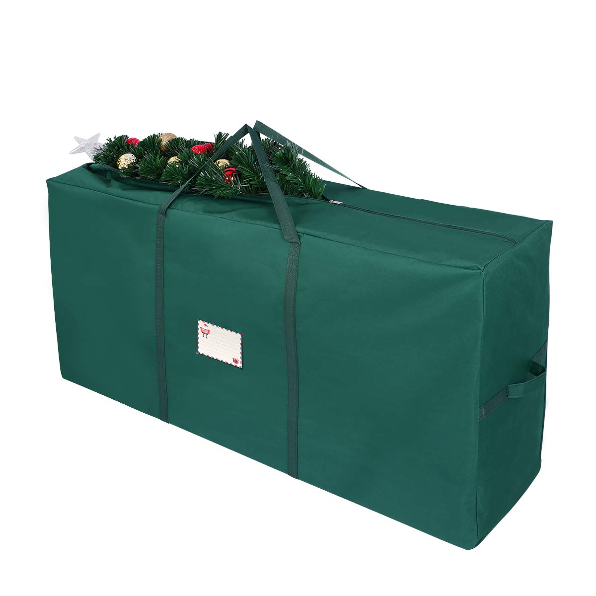 Unomor Christmas Tree Storage Bag, Fit Up to 7'Christmas Tree Container Artificial Tree 53 x 13.4 x 26.8 inch (Green)