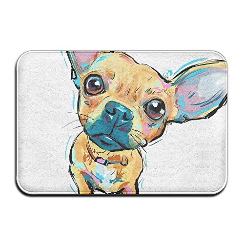 Chihuahua Delight Front Door Mat Large Outdoor Indoor Entrance Doormat Home - Waterproof Low Profile Door Mats Stylish Welcome Mats Garage Patio Snow Scraper Front Doormats