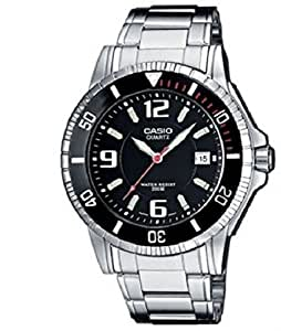 Casio Collection – Reloj Hombre Analógico con Correa de Acero Inoxidable – MTD-1053D-1AVES