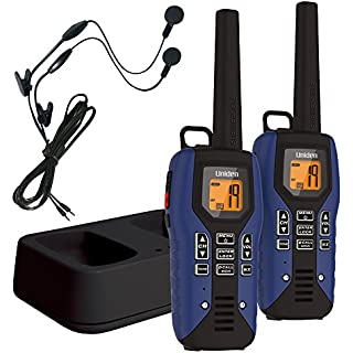 Sale Off Uniden GMR5095-2CKHS Submersible Two Way Radio with Charger and Headset Blue
