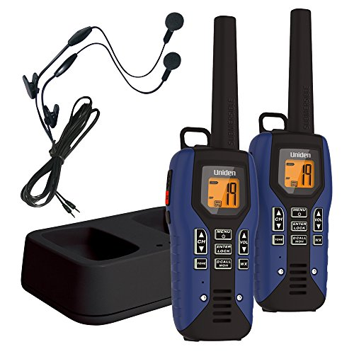 Uniden GMR5095-2CKHS Submersible Two Way Radio with Charger and Headset, Blue