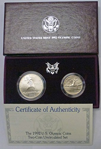 1992 D,P 1992 U.S. Olympic 2-Coin Uncirculated Set
