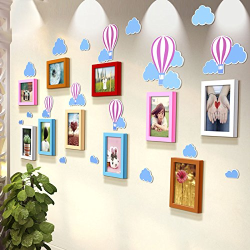 TIANTA- Balloon Stereo Wall Stickers Solid Wood Frame Wall Children's Room Kindergarten Decoration Life According To Art Photos Photo Wall adorn ( Color : #1 )