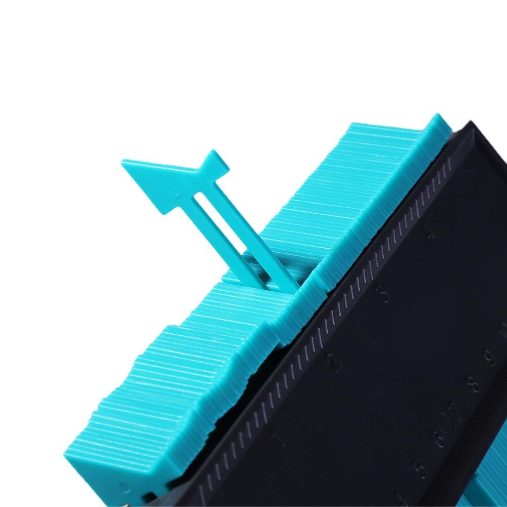 Outils g/én/éraux carrelage de jauge de Profil de Copie de Contour de Haute pr/écision pour Outils de marquage du Bois Balai Outil de duplicateur de duplicateur de jauge de Contour de 5 Pouces