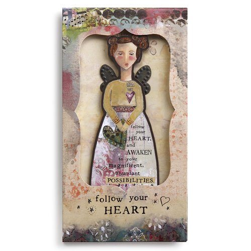 Kelly Rae Roberts Angel Ornament Card - FOLLOW YOUR HEART