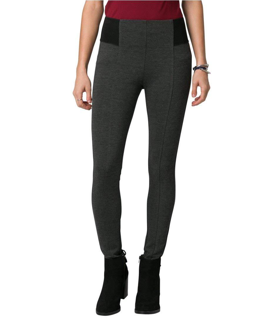 LE CHÂTEAU Women's Two-Tone Ponte Skinny Leg Pant,0,Grey