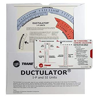 Amazon com: Trane Calculator Kit - (1) Trane Ductulator with