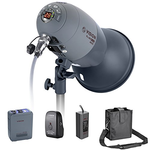 (Neewer VL-300 Plus AC/DC Dual-Power Support 300W GN65 Strobe Studio Flash with Built-in 2.4G Receiver (Trigger Included), Recycle in 0.8-2.5 seconds, with 3300mAh Battery Pack, Bowens Mount)