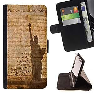King Case - FOR HTC One M9 - Life is good and happy - Prima caja de la PU billetera de cuero con ranuras para tarjetas, efectivo Compartimiento desmontable y correa para la mu?eca