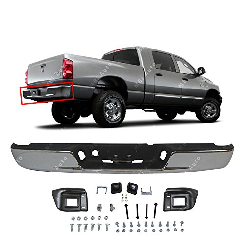 Bumper Brackets Pickup Rear - MBI AUTO - Chrome Steel, Rear Bumper Assembly for 2002-2008 Dodge RAM 1500 & 2003-2009 Dodge RAM 2500 3500 Pickup, CH1103115