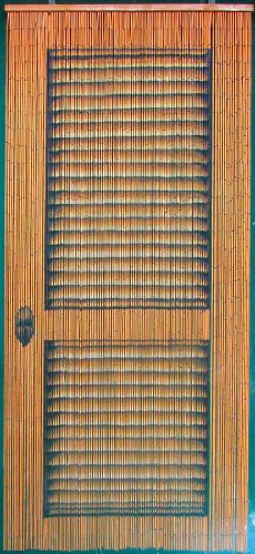 Louver Door Beaded Curtain 125 Strands (+hanging hardware) ()