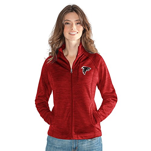 GIII For Her NFL Atlanta Falcons Women's Hand Off Full Zip Jacket, Small, Red ()