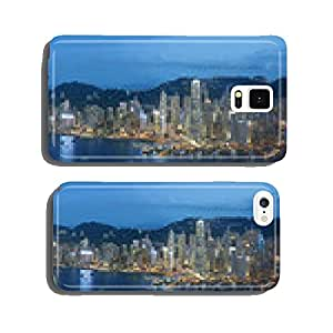 Panorama view of Victoria Harbor of Hong Kong cell phone cover case Samsung S6