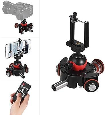 Andoer Mini Deslizador de Vídeo motorizado con 3 Ruedas, con ...
