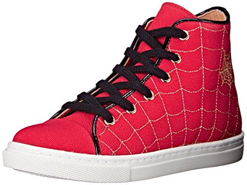 Charlotte Olympia Baby Girl's Incy Web High-Tops (Toddler/Little Kid) Red Canvas 30 (US 13 Little Kid) M by charlotte olympia