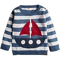 Suéter infantil tricô masculino veleiro