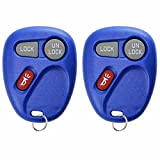KeylessOption Keyless Entry Remote Control Car Key Fob Replacement for 15732803 -Blue (Pack of 2)