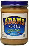 Adams NO-STIR Natural CREAMY PEANUT BUTTER 16oz (6 Pack)
