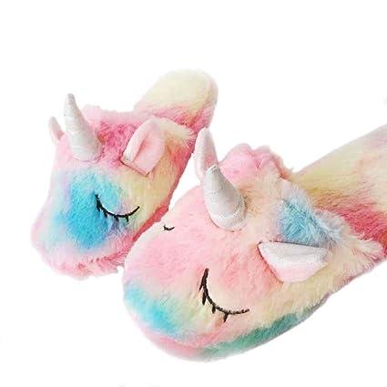 KayMayn - Zapatillas de Unicornio para Adultos de 25 cm, Tallas 36 a 40,