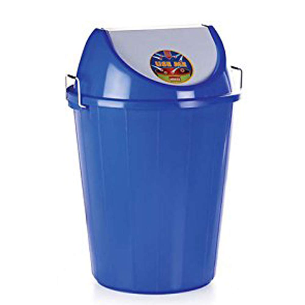 Aristo Swing Lid Garbage Waste Dustbin 32 Litre (Blue)