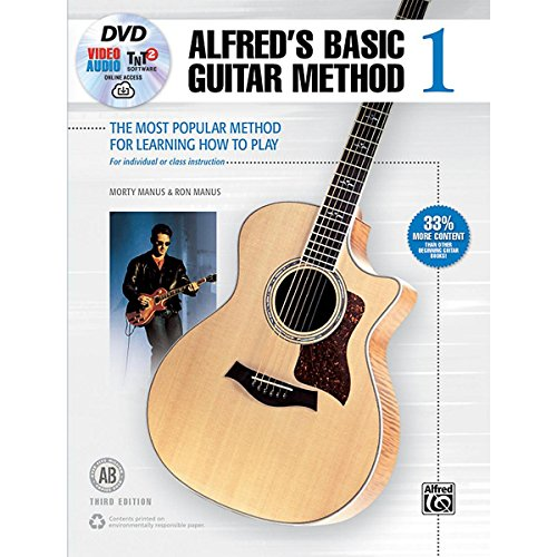 - Alfred Alfred's Basic Guitar Method 1 (3rd Edition)-Book, DVD & Online Audio