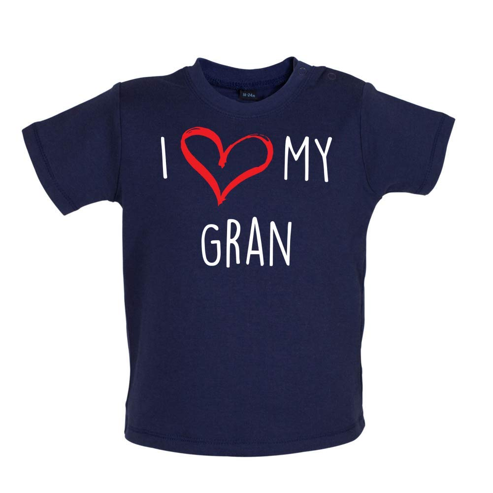 7 Colours I Love My Gran 3-24 Months Baby T-Shirt