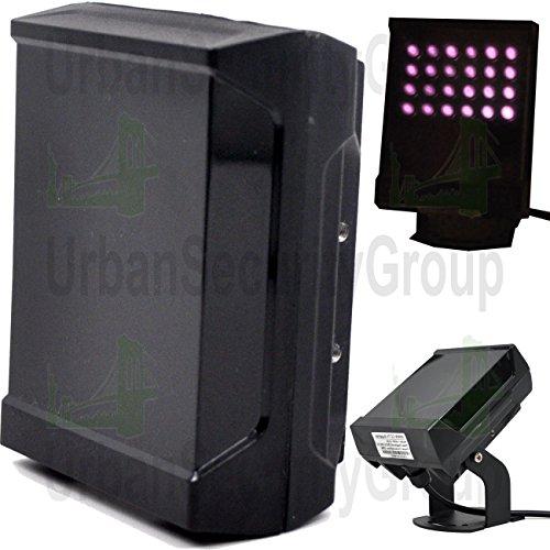 [USG Business Grade IR Illuminator : External IR LEDs for Infrared Security Cameras : Surface Emitting Laser (VCSEL) Fill Light : 850nm : 260ft Range : Improve Low Light Performance : IP65 : AC/DC] (Black Infrared Range)