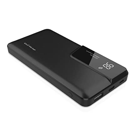 Uni-Yeap POS100 Portable Charger Power Bank Battery 11000mAh with Type-C/Micro USB Input 2.4A Output Fast Charge for iPhone iPad Samsung Huawei and ...