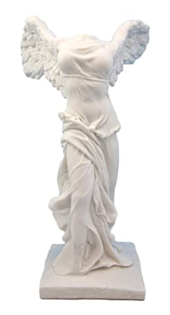 Ebros Large Winged Victory of Samothrace Statue 10.5 Tall Roman Greek Goddess Nike of Samothrace Figurine Artifact Reproduction Home Decor Classical Sculpture