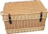 Rope Handled Trunk 66cm Empty Picnic Basket