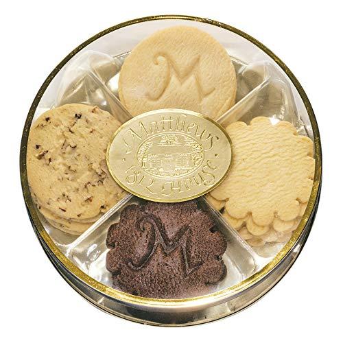 Matthews 1812 House Gourmet Shortbread Cookie Sampler Assortment- 20 Cookies, 4 Flavors: Chocolate, Lemon, Pecan…