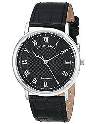 Stuhrling Original Men's 645.03 Classique Analog Display Swiss Quartz Black Watch