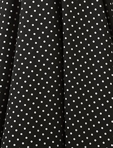Dressystar Vintage Polka Dot Retro Cocktail Prom Dresses 50's 60's Rockabilly Bandage Black L by Dressystar (Image #5)