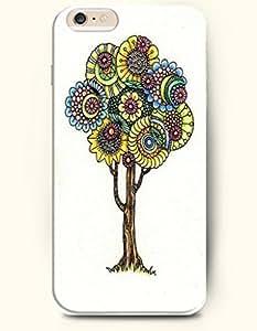 SevenArc New Apple iphone 6 Plus(5.5inch) Hard Back Case - MANDALA CIRCLE - Weird Yellow Blue Mandala Circle Tree...