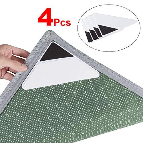 Tiaoyeer - Alfombra antideslizante, 8 unidades, mantiene su alfombra segura y en su lugar y hace que las esquinas sean...