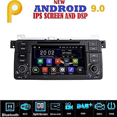 Android 9.0 GPS DVD USB SD WI-FI Bluetooth Mirrorlink Radio ...