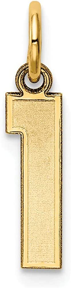 Yasmins Collection 14K Yellow Gold Vertical 2019 Charm Pendant