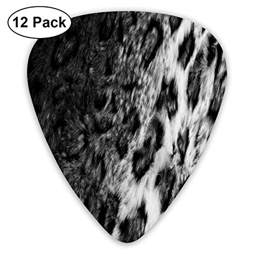 Leopard Fur Exquisite Shell Surface Guitar Pick-12 Pieces of Packaging General Purpose